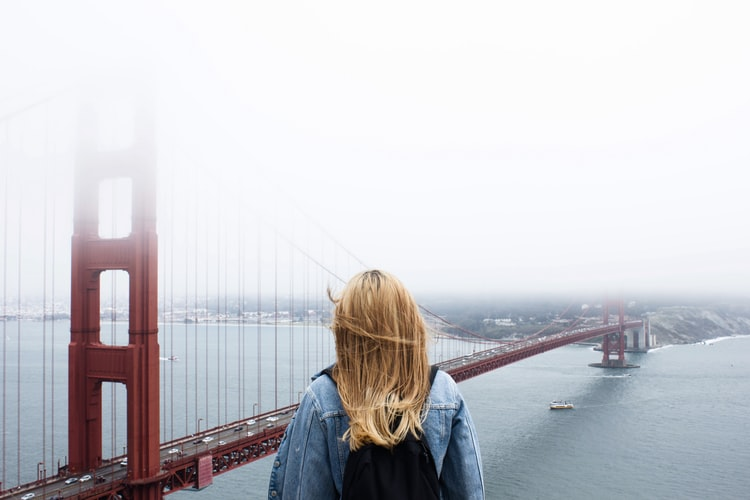 this image shows a university of san francisco student over the golden gate bridge
